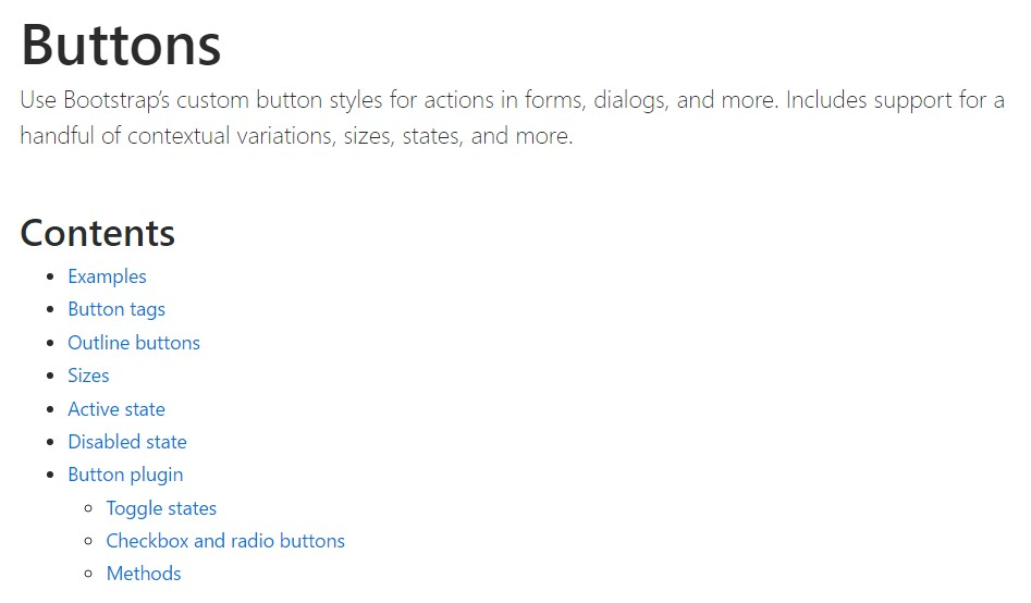 Bootstrap toggle official  information