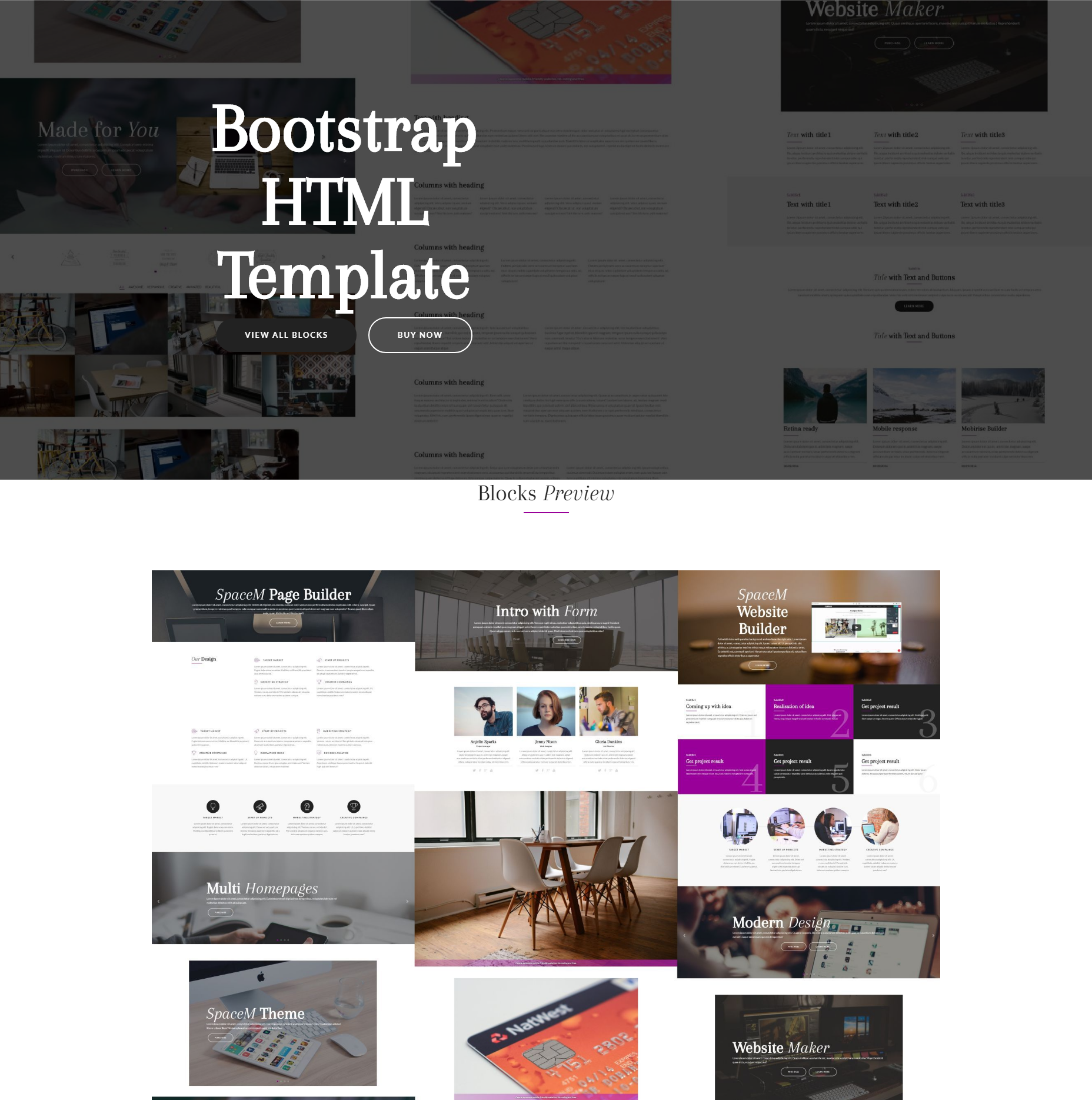 HTML Bootstrap SpaceM Templates