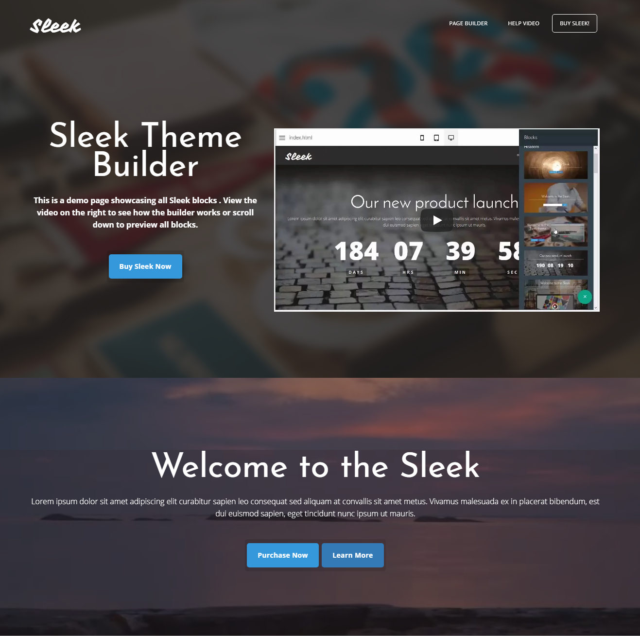 CSS3 Bootstrap Sleek Templates