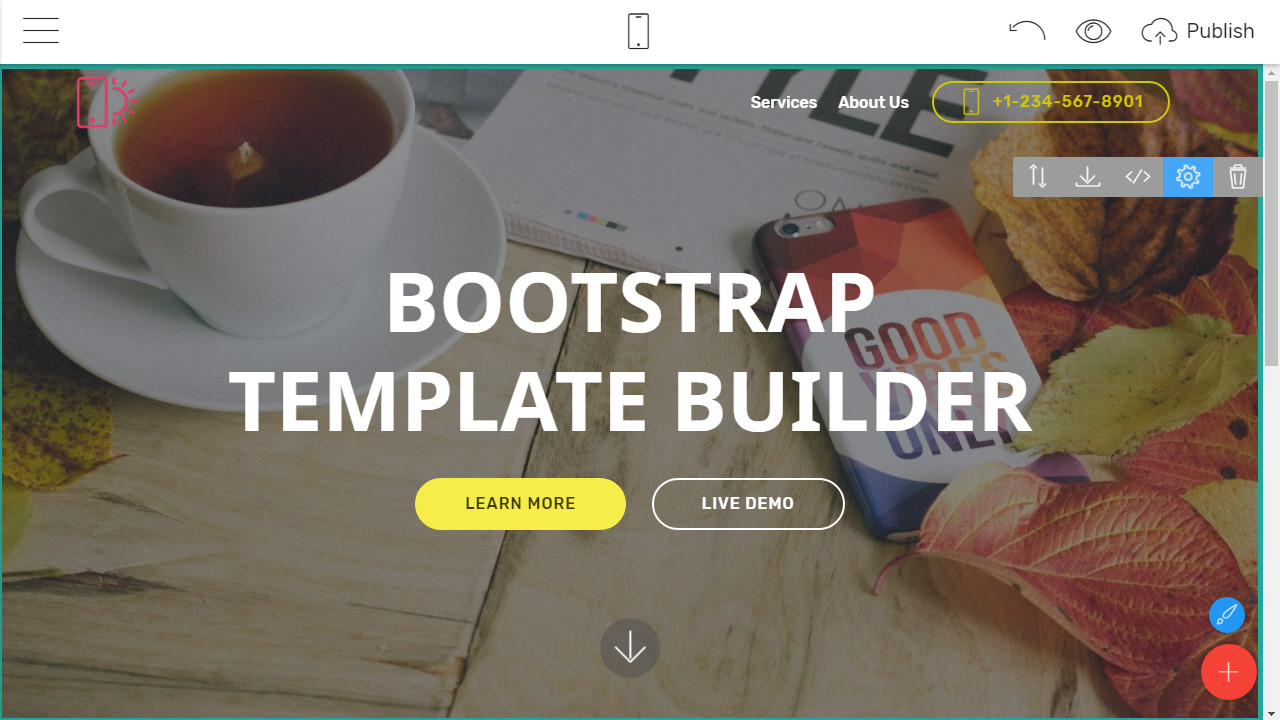 Responsive Landing page Builder